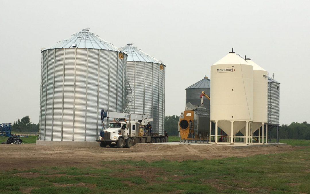 Moving Bins and Grain Dryer/ Lifting Leg System